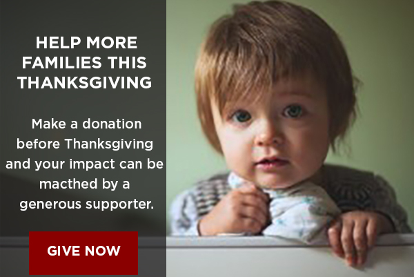 Help more families this Thanksgiving with a donation to Feeding America