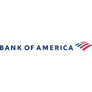 Bank of America with American flag
