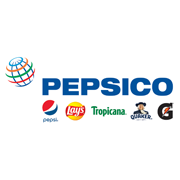 Pepsico logo on white background