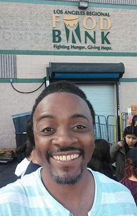 David Askew outside of the Los Angeles Regional Food Bank