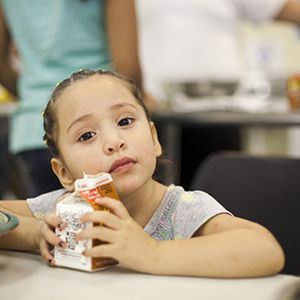 Child with milk