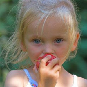 Girl with apple_300x300