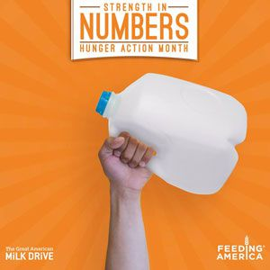 Great American Milk Drive Participates in Hunger Action Month