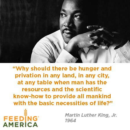 Hunger Quotes Brilliant Martin Luther King Jrand Hunger