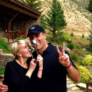 Tony Robbins and his wife