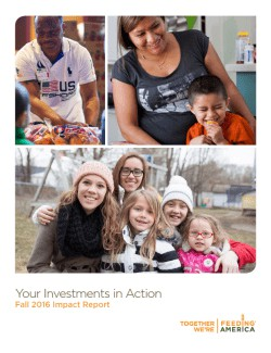 Fall 2016 Donor Impact Report Cover