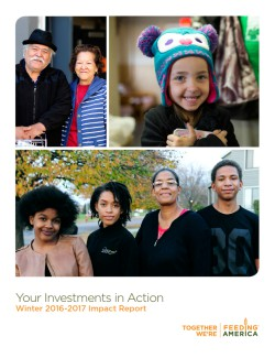 Winter 2016 Donor Impact Report Cover