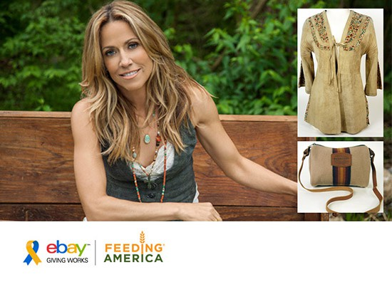 Sheryl Crow holds online auction on eBay for Feeding America