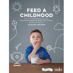 Feed a Childhood. The Great America Milk Drive.