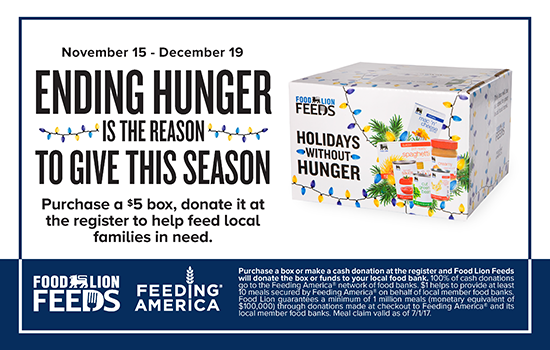 Food Lion Holidays without Hunger