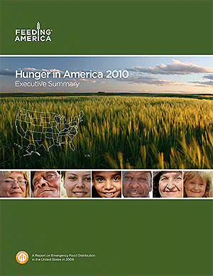 Hunger in America 2010 report cover