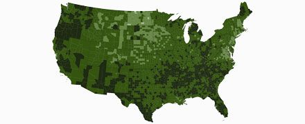 Map of hunger in America with statistics and research from Feeding America.