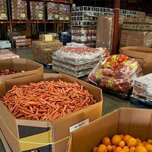 Produce in food bank