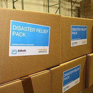 Disaster Boxes provided by Abbott