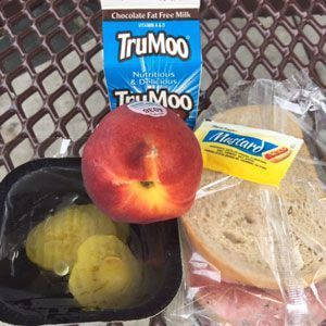 A meal at a summer program site.