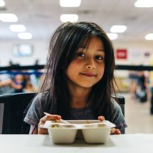 Girl eating lunch
