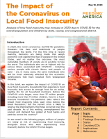 Cover of report on the Impact of the Coronavirus on Local Food Insecurity