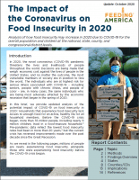 Cover of The Impact of Coronavirus on Food Insecurity - revised Oct. 2020 Report