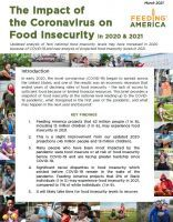 Cover of The Impact of Coronavirus on Food Insecurity - revised March 2021 Report